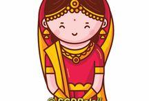 Creative Indian Wedding Invitation Illustrations