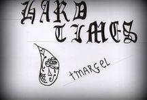 Marcel swaan Calligrafie / mijn eerste calligrafie tekeningen