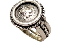 Goddess Athina silver coin ring