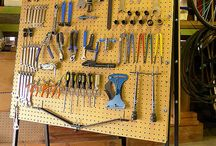 Bicycle Tool Peg Boards and Walls