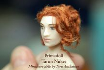 Rose III / 1:12 porcelain doll by Taru Astikainen