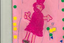 Dibujos de los niños durante el evento #NadalMercatOlivar