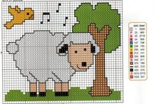 Cross stitch - sheeps