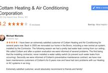Testimonials / Cottam Heating & Air Conditioning | City Island, NY