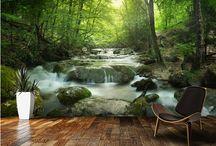 Tapet med motiv av natur