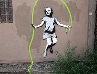 Banksy and street art / Art, grafitti, drawing, painting and visual content