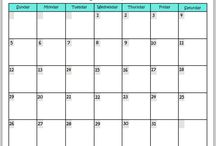 Free Printables / Free Household Printables, Calanders and More.