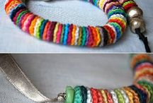 Knitted and crocheted jewellery