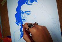 Frida Kahlo / malba, kresba