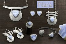 NARA COLLECTION / The Nara Collection is a new jewelry collection created with hand cut and polished Blue Lace Agate and sterling silver.