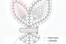 háčkované motýle návody