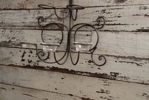 White Barnwood Accent Walls