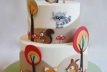 Christening Owl-Fox cake