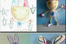 drawings of toys for Past and Present
