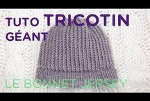 bonnet  tricotin