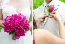 Pink and green wedding
