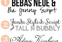 Font inspiration / Fonts PS