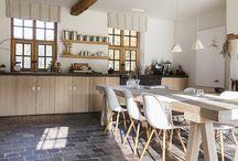 Sol cuisine/terrasse d'hiver
