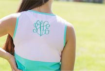 Seersucker Pocket Tank Tops / Love the look of an oversized monogram on the back!
