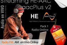 Streaming HE-AAC aacPlus v2 / Streaming HE-AAC (aacPlus v2)- Wowza Codificador avanzado de audio de alta eficiencia (HE-AAC del inglés High-Efficiency Advanced Audio Coding)
