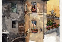 Dreamview / sketches - watercolors - illustration