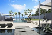 modern pool and surrounds