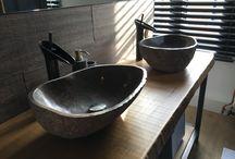 Teakea | Natuurstenen waskommen / Zie hier hoe onze klanten hun natuurstenen waskommen hebben ingericht!
