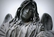 In the Graveyard / A mixture of my photography and others #graves #photography #cemetery  #statues