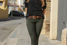 olivgrüne Hose