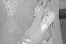 Weddings - The Shoes / Weddings require the perfect shoes for the bride. These are photos of bridal shoes at weddings / by Pierre Mardaga