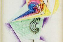 Works by Johannes Itten / Johannes Itten (11 November 1888 – 25 March 1967) was a Swiss expressionist painter, designer, teacher, writer and theorist associated with the Bauhaus (Staatliche Bauhaus) school. Together with German-American painter Lyonel Feininger and German sculptor Gerhard Marcks, under the direction of German architect Walter Gropius, Itten was part of the core of the Weimar Bauhaus.