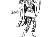Coloriages Monster High / Cléo de Nile, Frankie Stein, Ghoulia Yelps, Lagoona Blue, Clawdeen Wol, Draculaura,Clawdeen,Rochelle Goyle , Venus McFlytrap...Entrez dans le monde de Monster High avec ces dessins à colorier.