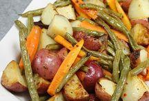 oven roasted potatoes vegitables