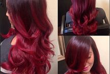 Ombré Red Balyage Hair Tones
