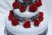 wedding cake towl inspiration