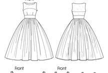 bodice with skirts