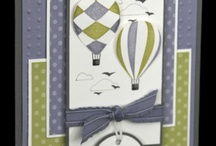 Cards, hot air balloon
