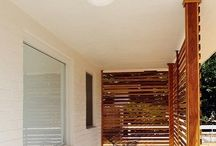 Wooden panels. / Window protection