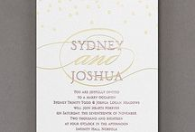 What's in a Name? / It's your wedding day! Why not emphasize your names? Here's a few invitations that do just that.