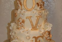 Wedding Cake, Gold, Caramel, Champagne  / A collection of cakes not quite cream or ivory, but with warm tones like gold and creamy caramel ... I also have around 40 wedding cake boards plus cupcakes, towers, mini cakes etc. that you may like to take a look at :)