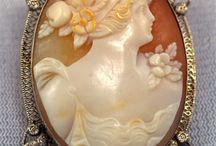 Cameos / Carved, classical, tiny, beautiful art!