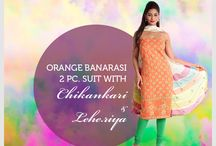 Celebrate Holi with Chickankari / Still looking for that flawless attire for this Holi. Look no further, find the perfect fusion of contemporary design with our Chikankari suits coupled with vibrant Leheriya dupattas. Each attire is uniquely designed with delicate Chikan embroidery to perfectly complement the vivacity effortlessly lent by Leheriyas.  View collection @ http://www.kasturi-b.com/leheriya-holi.html  To avail stylist consultation & customized stitching facility - Whatsapp on 9936118888 or mail on care@kasturi-b.com.