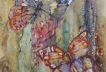acuarelas / pinturas de mariposas