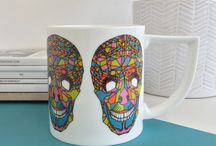 Mugs / A wide selection of mugs featuring contemporary designs by independent artists.   Dishwasher Safe Fine Bone China  Made in Stoke-on-Trent, England.