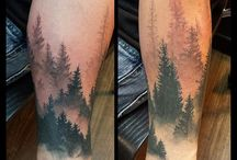 forest wrist tattoo