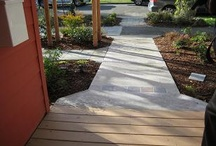 Universal Design: Routes To Entrances / It's convenient to have a wide and beautiful pathway (without cracks, gaps, and bumps) on the way to each entrance of the home. / by Sarah Pruett