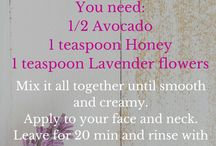 Mask - Lavender - Avocado and Honey / The perfect mask for all skin types, especially during the dry winter months.