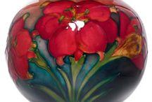 Moorcroft / Hand painted pots
