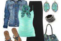 Turquoise n brown
