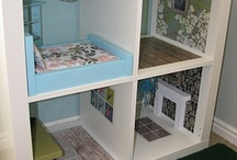 Crafty fun / Doll house from cube shelving